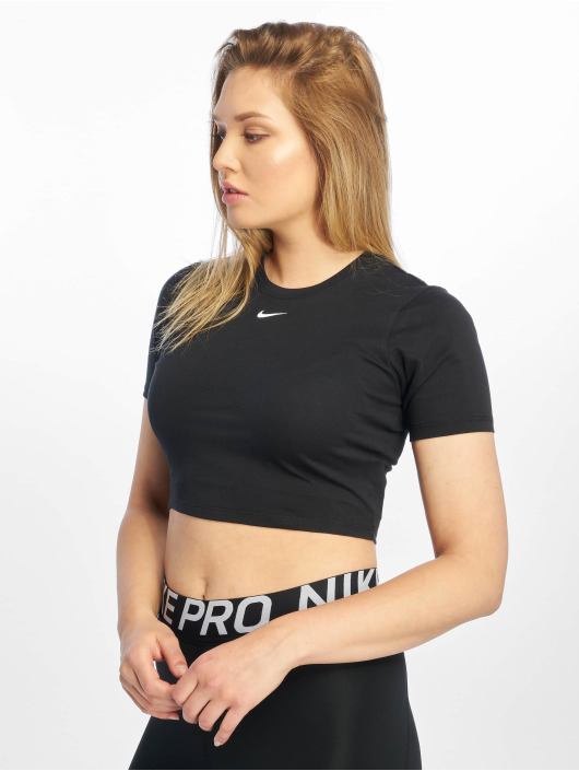 Nike Tops Essential SS Crop czarny