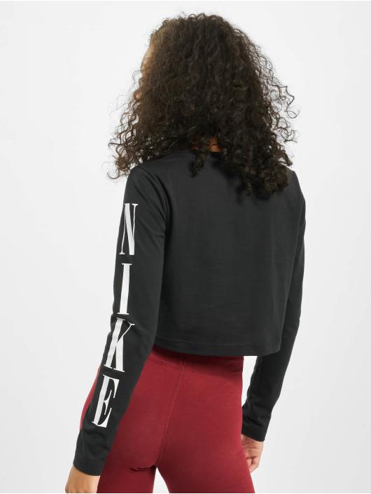 Nike Tops LS Crop STWR 2 czarny