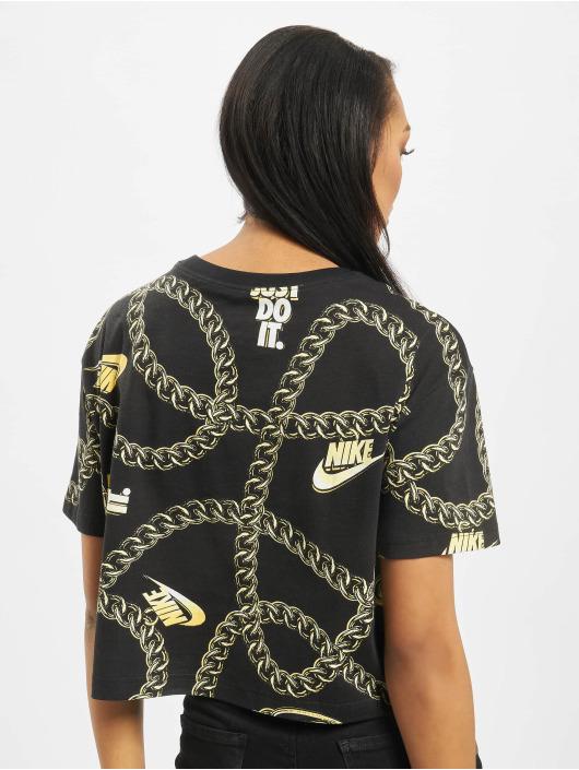 Nike Tops Glam Dunk czarny
