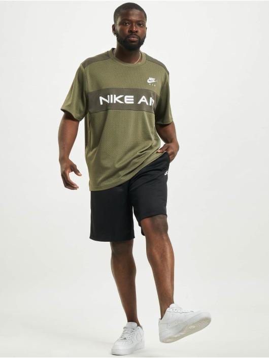 Nike Tops Mesh oliwkowy