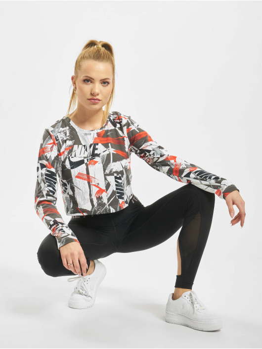 Nike Tops LS AOP rosso