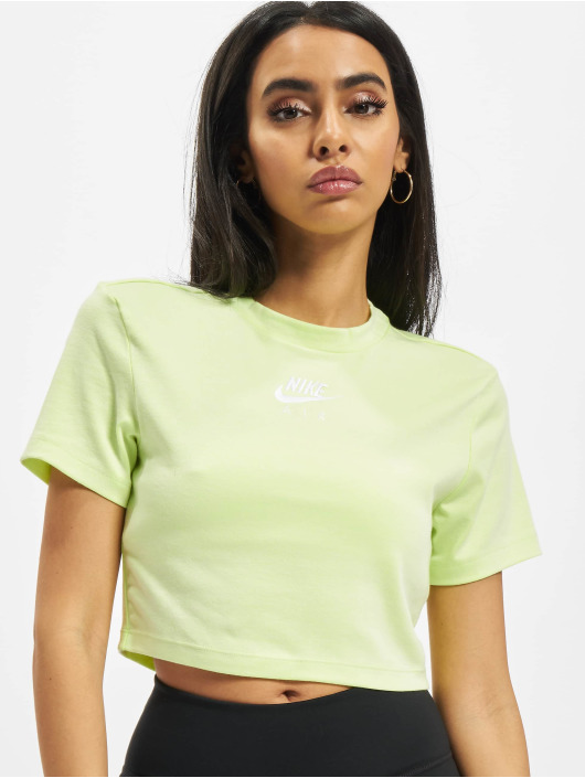 Nike Tops Air Crop zielony