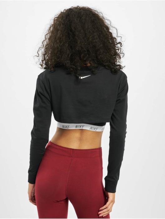 Nike Topy/Tielka LS Crop Pythn èierna