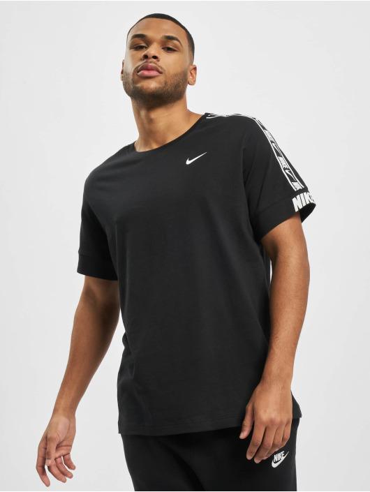 Nike Tričká M Nsw Repeat Ss èierna