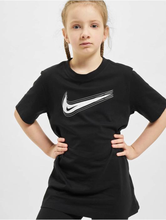 Nike Tričká Swoosh èierna