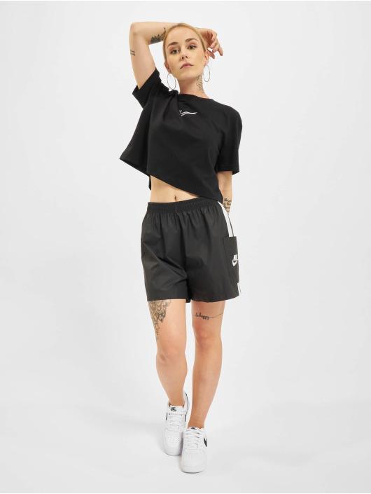 Nike Tričká Crop èierna