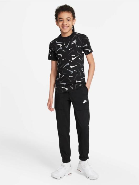 Nike Tričká Swoosh Aop èierna