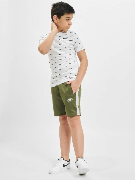 Nike Tričká Swoosh AOP biela
