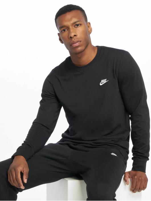 Nike Tričká dlhý rukáv Club LS èierna