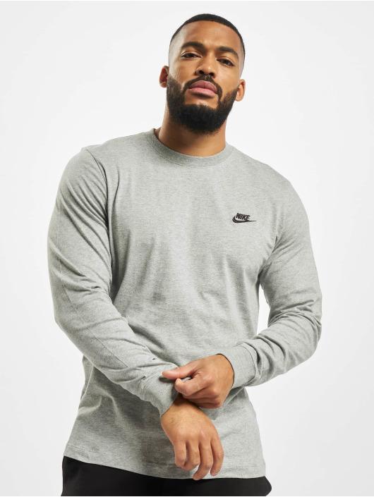 Nike Tričká dlhý rukáv Club Longsleeve šedá