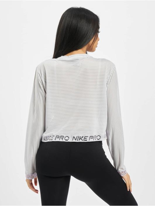 Nike Tričká dlhý rukáv Pro Mesh biela