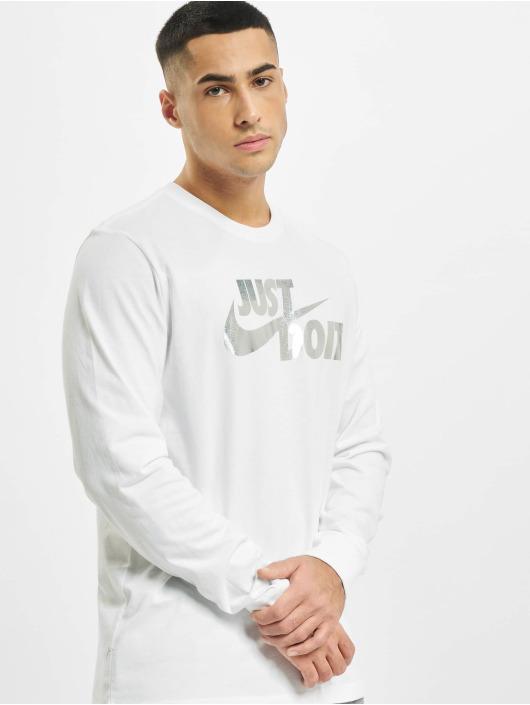 Nike Tričká dlhý rukáv Sportswear Brnd Mrk Foil biela