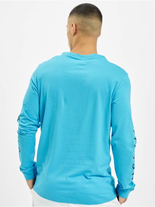 Nike Tričká dlhý rukáv Swoosh PK modrá