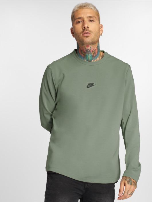 Nike Tričká dlhý rukáv Sportswear olivová