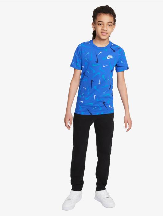 Nike Tričká Swoosh Aop modrá