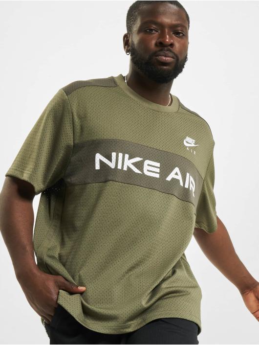 Nike Tričká Mesh olivová