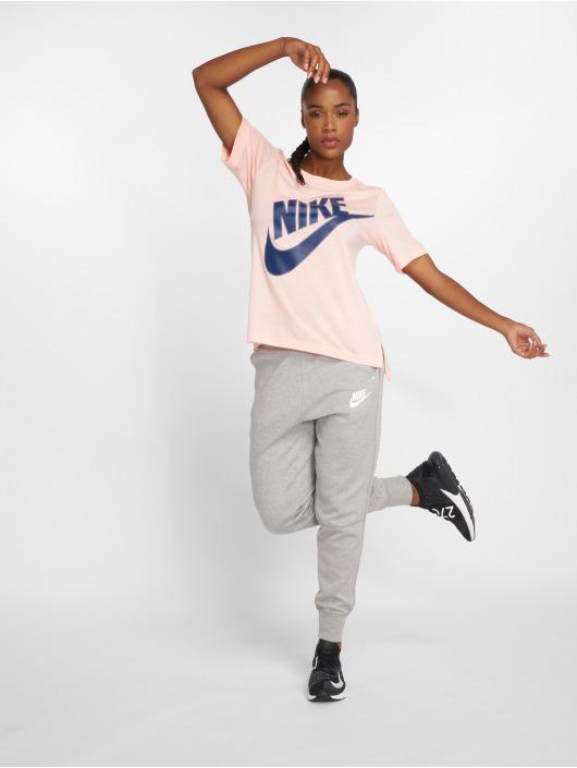 Nike Tričká NSW Top SS Prep Futura ružová
