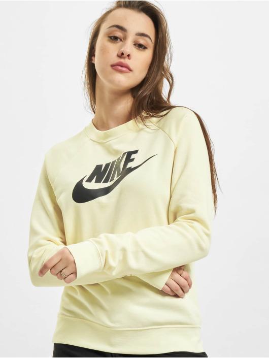 Nike Tröja W Nsw Essntl Flc Gx Crew beige