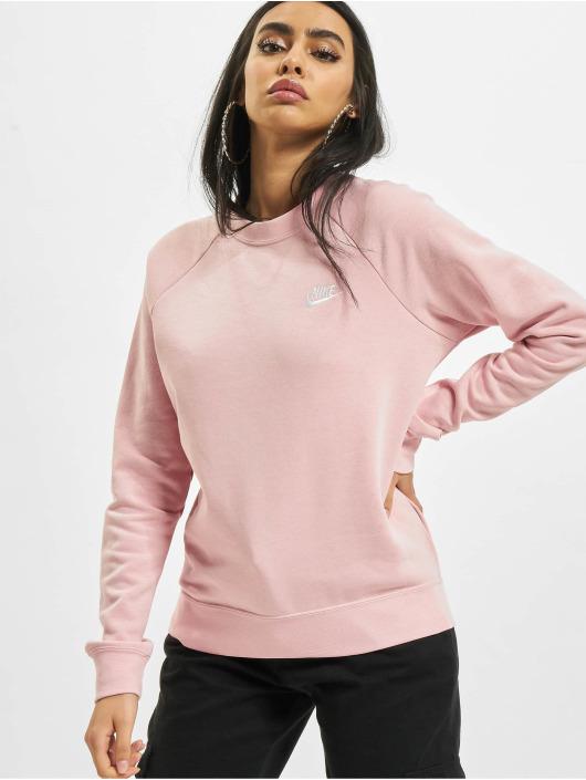 Nike Tröja W Nsw Essntl Flc Crew rosa
