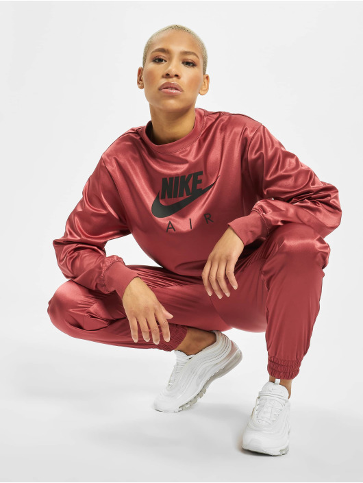 Nike trui Air Crew Satin rood