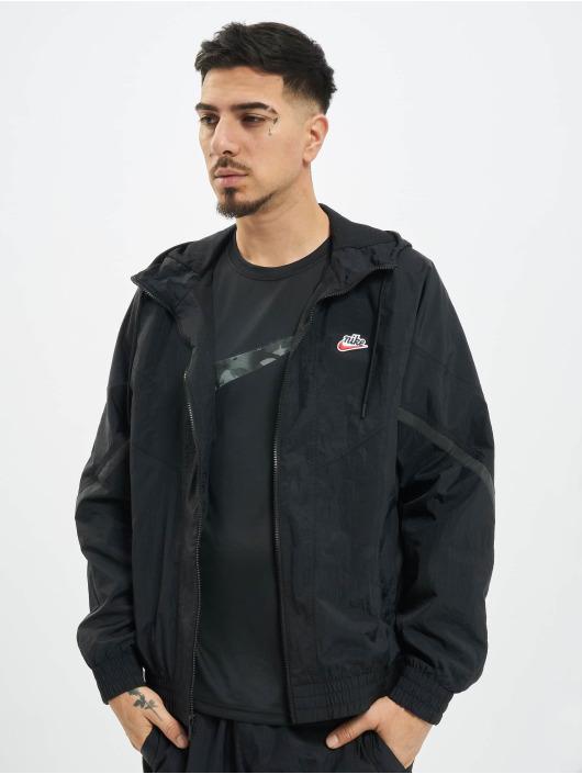Nike Välikausitakit Nsw Hooded musta