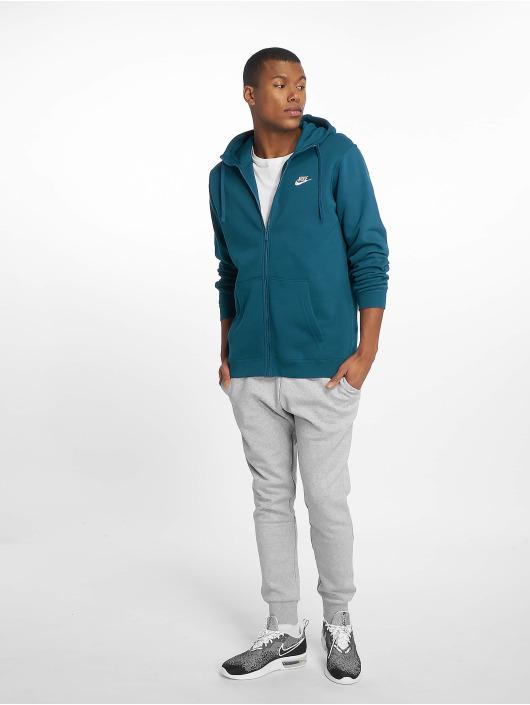 Nike Vetoketjuhupparit Sportswear sininen