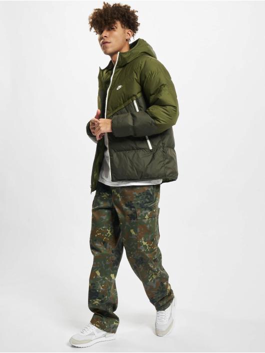 Nike Zimní bundy NSW SF Windrunner Hooded zelený