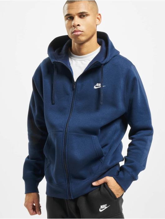 Nike Zip Hoodie Club blau
