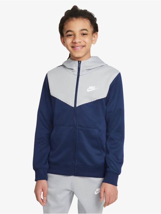 Nike Zip Hoodie Repeat blau