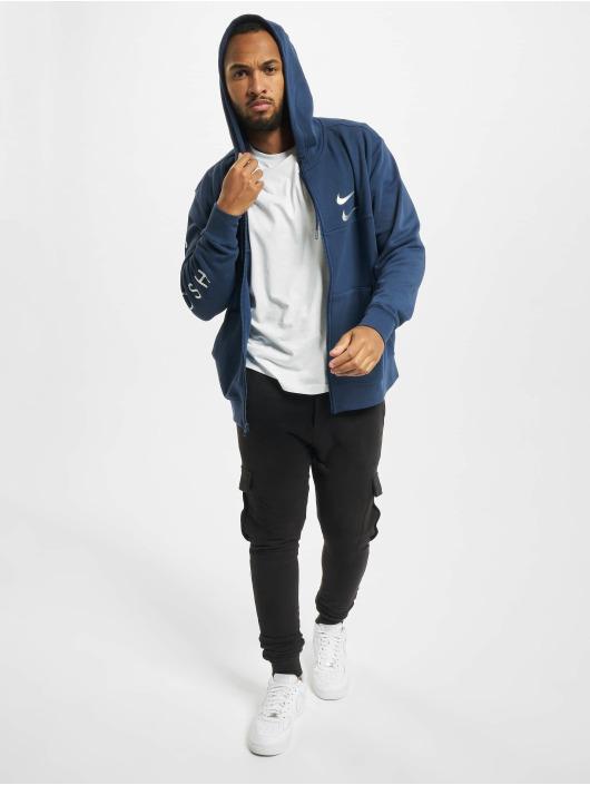 Nike Zip Hoodie Swoosh blue