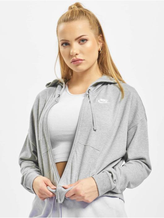 Nike Zip Hoodie FZ JRSY grå