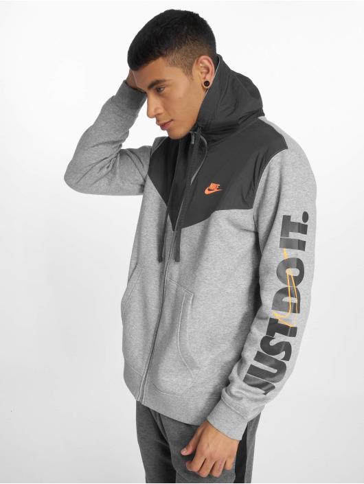 Nike Zip Hoodie  grau