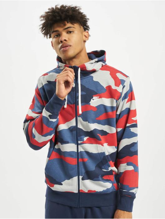 Nike Zip Hoodie Club FZ FT Camo grau