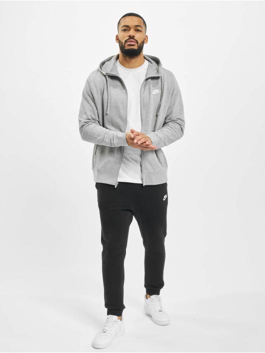 Nike Zip Hoodie Club Full Zip FT grau