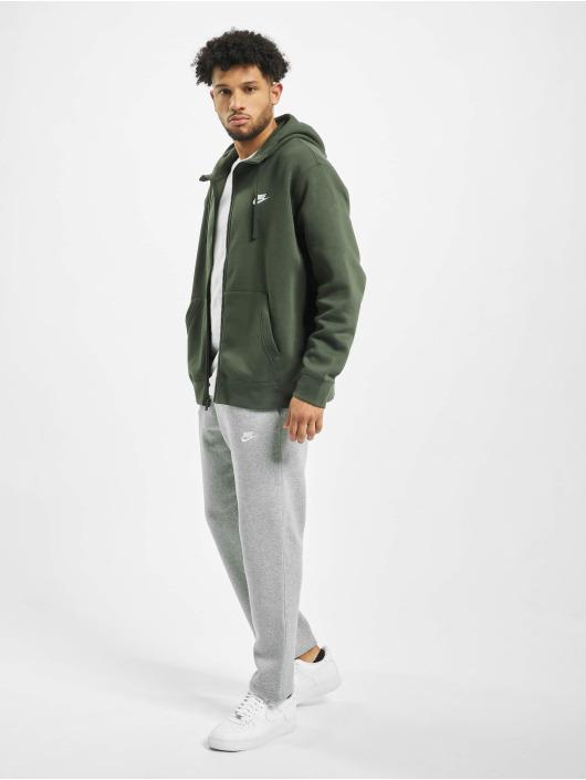 Nike Zip Hoodie Club Hoodie green