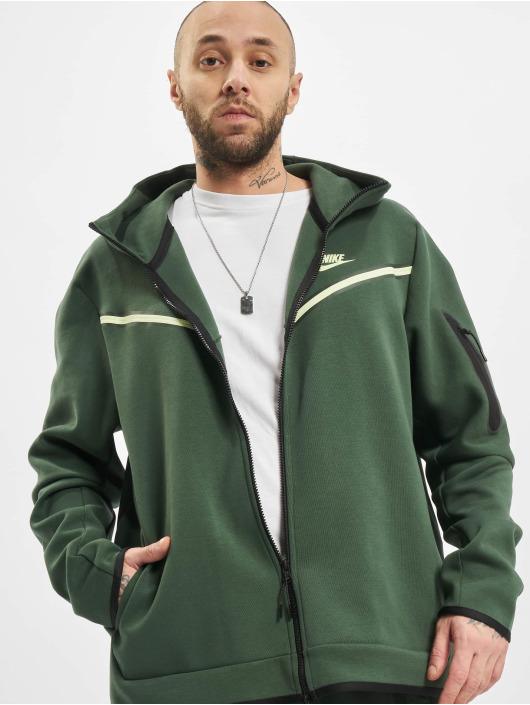 Nike Zip Hoodie M Nsw Tch Flc Fz Wr grön