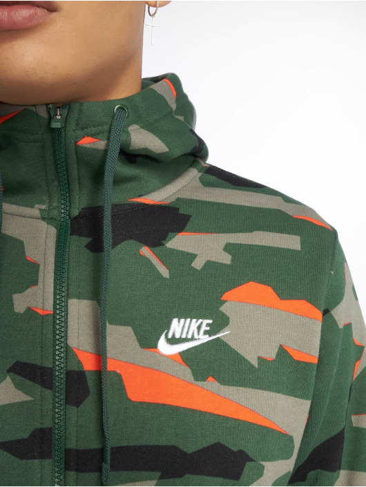 Nike Zip Hoodie Sportswear grün