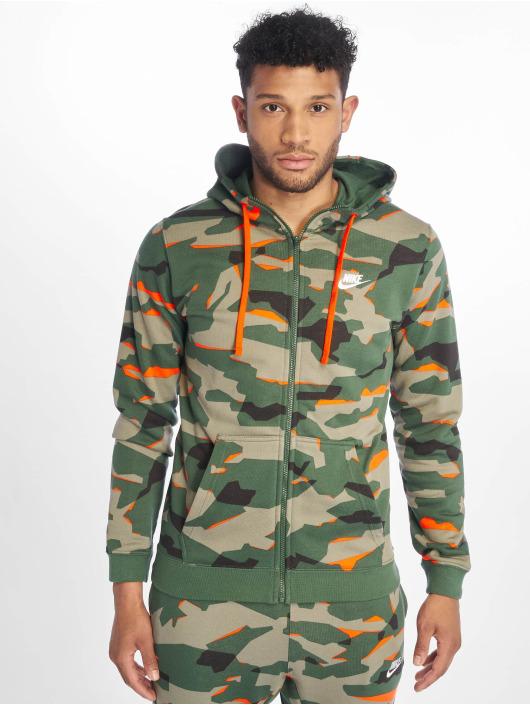 Nike Zip Hoodie M Nsw Club Camo Hoodie Fz Ft grün