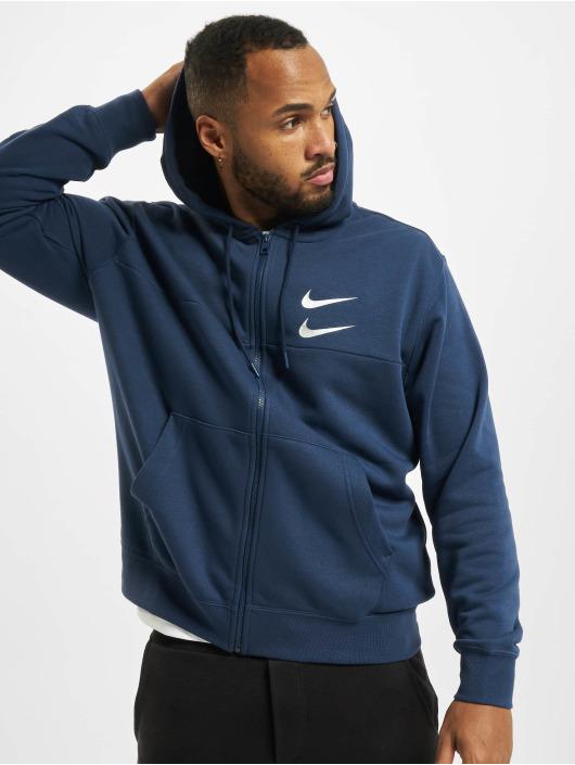 Nike Zip Hoodie Swoosh modrá