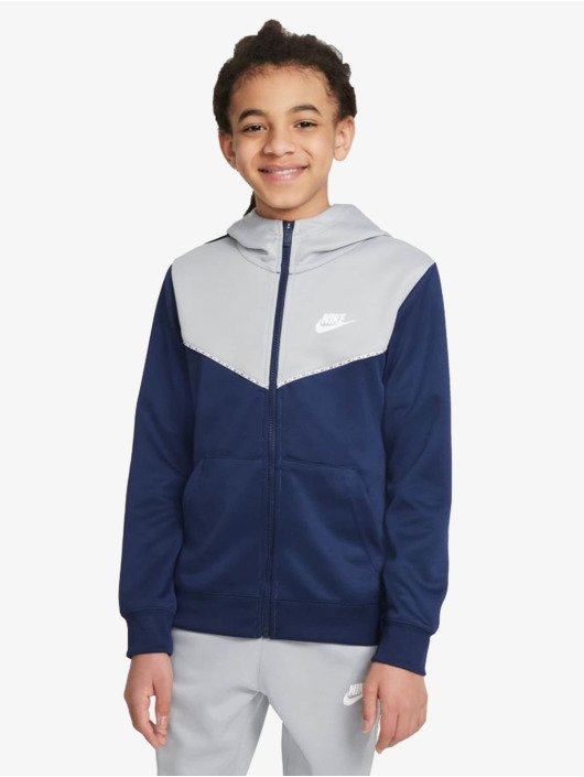 Nike Zip Hoodie Repeat niebieski