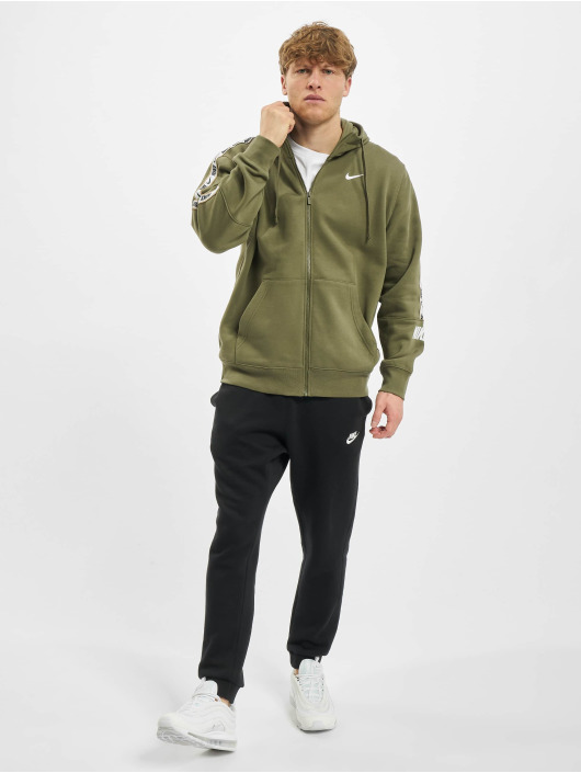 Nike Zip Hoodie Repeat Flecce Full Zip oliwkowy