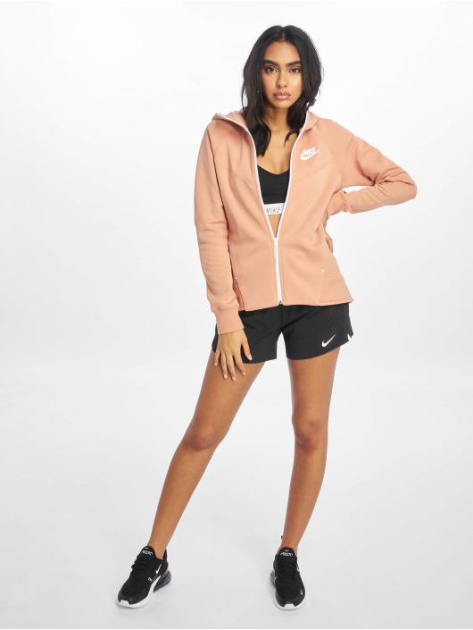 Nike Zip Hoodie Tech Fleece rózowy
