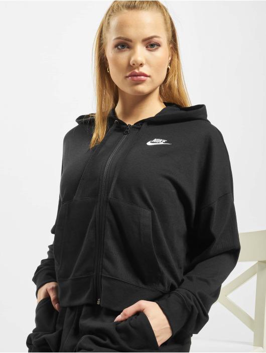 Nike Zip Hoodie FZ JRSY schwarz