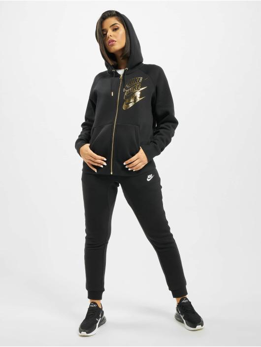 Nike Zip Hoodie Full Zip BB Shine schwarz