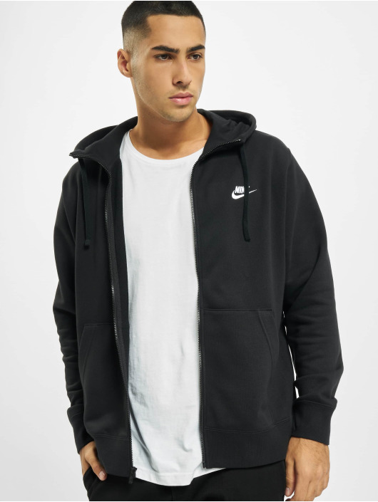 Nike Zip Hoodie Club Full Zip FT schwarz