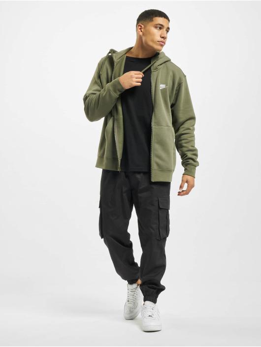 Nike Zip Hoodie M Club Full zelená