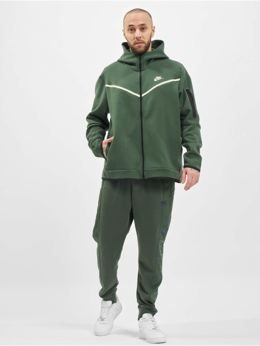 Nike Zip Hoodie M Nsw Tch Flc Fz Wr zelený