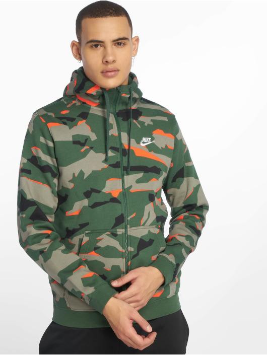 Nike Zip Hoodie Sportswear zielony
