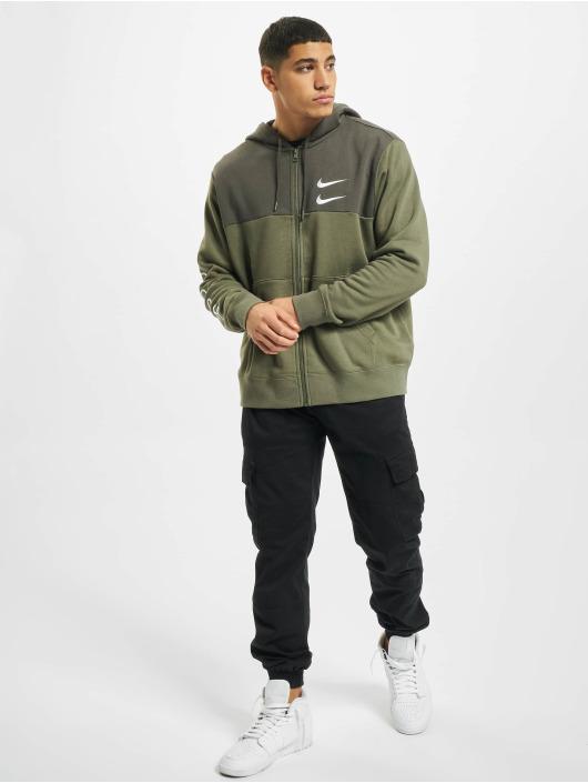 Nike Zip Hoodie Swoosh Full Zip SBB zielony