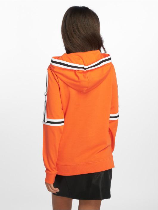Noisy May Bluzy z kapturem nmZena pomaranczowy